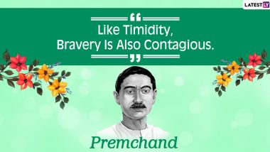 Munshi Premchand 140th Birth Anniversary: Thoughtful Quotes by The Indian Writer on Life, Virtue And Success