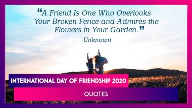 International Day of Friendship 2020 Quotes and Images That Express the Beauty of Friendship