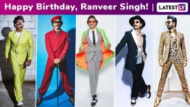 Ranveer Singh Birthday Special: A Natty Nostalgia of How the Livewire Actor Has Blazed His Way to a Whimsical, Dangerously Cool and a Magnanimous Sartorial Vibe!