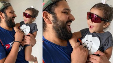 Rohit Sharma Shares Super-Cute Picture of Daughter Samaira Wearing Sunglasses