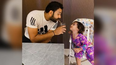 Rohit Sharma Shares Adorable Picture with His 'Munchkin' Daughter Samaira, Urges Fans to 'Say No to Plastic Straws'