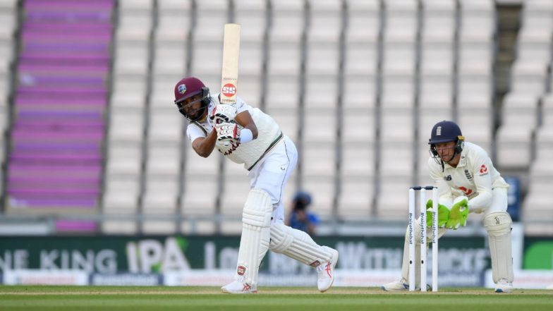 England vs West Indies 1st Test 2020 Day 3: Roston Chase, Shane Dowrich Consolidate Visitors' 31-Run Lead Over Hosts