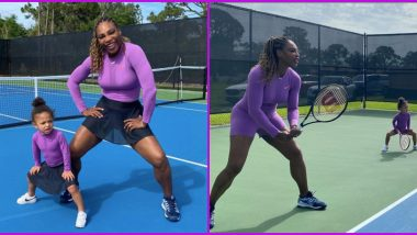 Serena Williams Brings Daughter As Her 'Doubles Partner', Former US Open Champion Enjoys Tennis Practice With Alexis Olympia Ohanian Jr.