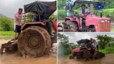 Salman Khan Tries His Hands At Farming, Drives A Tractor Around A Muddy Field (Watch Video)