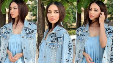 Sana Khan Is Having an All-Blue Kinda Day and Yes, Its Edgy Chic!
