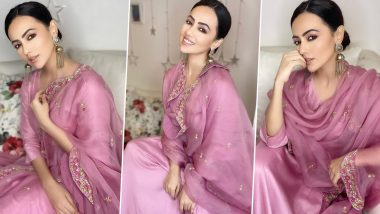 Sana Khan Is Gleaming, Glowing and Gorgeous in Vibrant Pink!