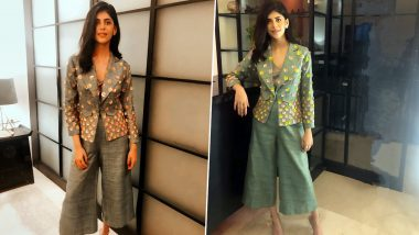 Sanjana Sanghi Woos With Her Understated Elegance in an Emerald Green Suit With 3D Floral Embellishments!