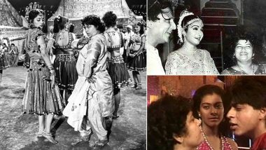 Saroj Khan Dies At 71: Beautiful and Rare On-Set Moments of the Dance Maestro With Madhuri Dixit, Sridevi, Shah Rukh Khan and Others (View Pics)