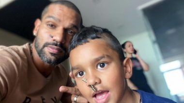 Shikhar Dhawan, Zoravar Flaunt Their New 'Nose Pin' in Latest Instagram Picture (View Post)