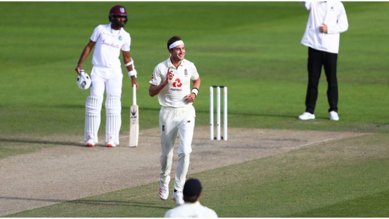 England vs West Indies, 3rd Test 2020, Day 3, Stat Highlights: Stuart Broad Takes 18th Test Fifer; Jason Holder Achieves Personal Milestone With 100th Wicket and Other Records