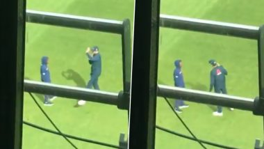 Stuart Broad Seen Having 'Long Chat' With Young West Indies Bowler Keon Harding Ahead of Clinching 500th Test Wicket, Fans Applaud Pacer's Sportsman Spirit (Watch Video)
