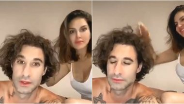 Sunny Leone and Hubby Daniel Weber Can't Get Enough of the Octopus-Shaped Head Massager, Say 'Whoever Invented This Device Is a Genius' (Watch Video)