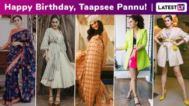 Taapsee Pannu Birthday Special: An Unconventional Cinematic Resume Complimented by an Atypically Chic and Brilliant Fashion Arsenal!