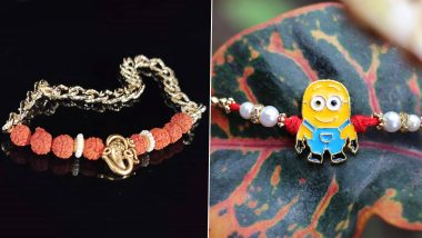 Raksha Bandhan 2020 Rakhi Designs: From Rudraksha to Cartoon, 5 Types of Rakhis to Choose For Your Brother
