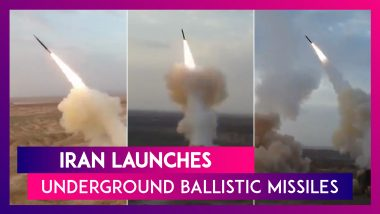 Iran Launches Underground Ballistic Missiles For The First Time During Exercise