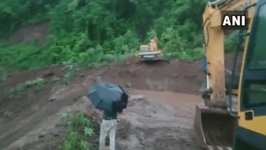Mumbai-Goa Highway Closed Due to Landslide at Dhamandevi Village in Raigad