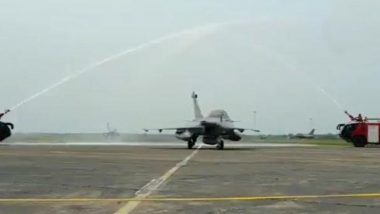 Rafale Fighter Jets Land in India: HM Amit Shah Says 'Induction of Next-Generation Aircraft Will Make India Powerful and Secure Nation'
