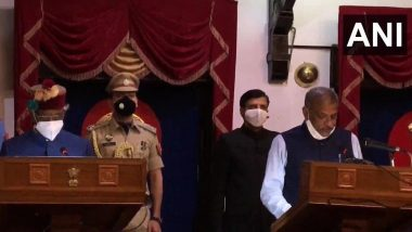 Himachal Pradesh Cabinet Expansion: BJP MLAs Sukhram Chaudhary, Rakesh Pathania & Rajender Garg Inducted Into Chief Minister Jai Ram Thakur's Cabinet