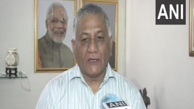 BJP MP General VK Singh Hands Over Rs 10 Lakh Cheque to Slain Journalist's Family