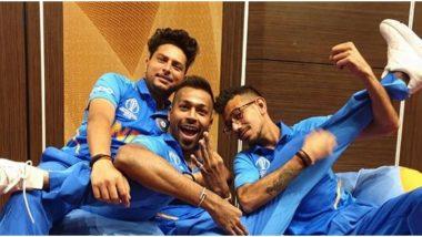 Yuzvendra Chahal Shares 'Powerful' Picture with Kuldeep Yadav and Hardik Pandya from ICC Cricket World Cup 2019
