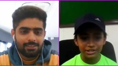 Babar Azam Holds Special Video Call With 8-Year-Old Fan Samia Afsar, Pakistan Cricketer Shares Batting Tips With Her