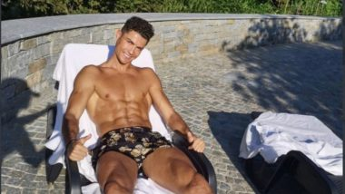 Cristiano Ronaldo Flaunts his Well-Chiseled Body, Goes Sunbathing Ahead of Juventus vs Atalanta (See Pic)