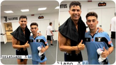 Cristiano Ronaldo Gifts Jersey to 17-Year-Old Lazio Player Raul Moro Whose 'Awestruck Reaction' While Looking at CR7 Went Viral