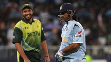 Shahid Afridi Rates MS Dhoni As Better Captain Than Ricky Ponting During #AskAfridi Session on Twitter
