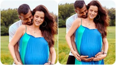 Natasa Stankovic Flaunts Her Baby Bump in an Adorable Photoshoot With Hardik Pandya (See Pic)