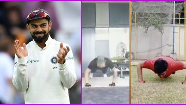 Virat Kohli Fly Push-Ups: Laxmi Ratan Shukla, MLA and Former KKR Player, Tries the Challenge; Says 'Proud of You Captain' (Watch Video)
