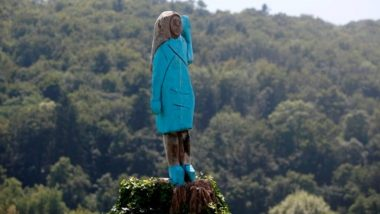 Melania Trump's Wooden Sculpture Set on Fire at Her Hometown in Slovenia on US Independence Day