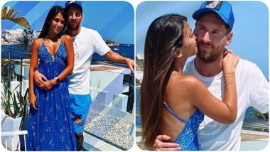 Love Is in the Air! Lionel Messi's Wife Antonella Roccuzzo Kisses Him Sweetly on Cheek In Cute PDA Pics
