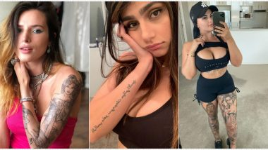 National Tattoo Day (US) 2020: From Renee Gracie's 'Boob Chandelier' to Bella Thorne's Arm Tattoo, View Pics of Internet Sensations and the Hottest Inking on Their Bodies