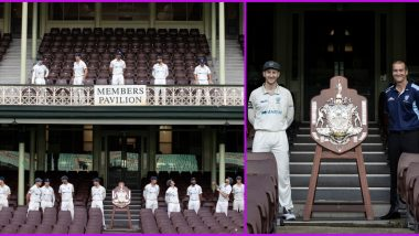 New South Wales Blues Players and Coach Practice Social Distancing While Posing With Sheffield Shield 2019-20 Winners Trophy (View Photos)