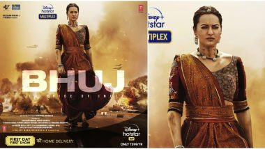 Bhuj The Pride of India: Sonakshi Sinha Looks Fearless and Powerful in Her First Look from Ajay Devgn's War Drama