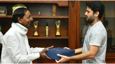 Nithiin Invites Telangana CM K Chandrashekar Rao for His Wedding With Shalini Kandukuri on July 26