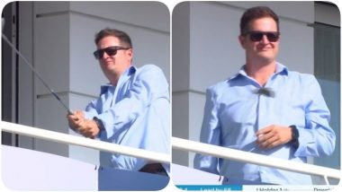 Robert Key Practices Golf While Watching ENG vs WI 1st Test 2020 at Ageas Bowl Stadium, Netizens Poke Fun at Former England Cricketer