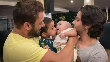 Salman Khan Shares a Cute Picture With Nephews Ahil, Nirvan and Baby Niece Ayat and We Are All Hearts For It! (View Post)