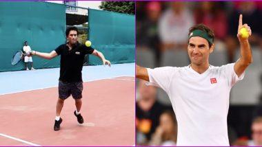 Sachin Tendulkar Asks for Tips on Forehand Shot From Roger Federer As Legendary Cricketer Posts Flashback Video of Him Playing Tennis