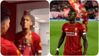 Sadio Mane Hilariously Trolls Roberto Firmino For Being Bald After Liverpool Wins EPL 2019-20, Asks Mohamed Salah to Give Bobby a Few Hair Strands (Watch Video)