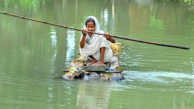 Assam Floods: 102 Dead in Flood-Related Incidents, Over 56 Lakh People Affected in 30 Districts of the Northeastern State