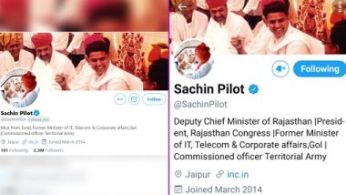 Sachin Pilot Reacts After Being Removed As Rajasthan Deputy CM, Changes his Bio on Twitter