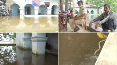 Bihar Floods: Kushewarsthan Police Station in Darbhanga District Flooded, Snakes Seen Floating in Water; See Pics