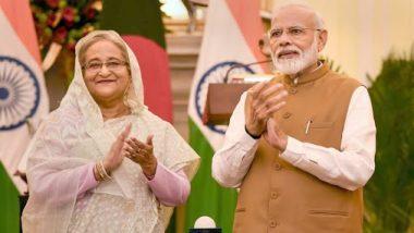 PM Narendra Modi Extends Eid-Ul-Azha Greetings to Bangladesh PM Sheikh Hasina, Wishes Her Good Health and Prosperity