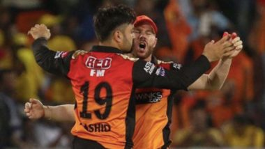 IPL 2020: David Warner's Latest Instagram Post Featuring Rashid Khan Is All About 'Social Distancing Violation', SRH Captain Says 'Too Close'