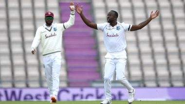 ENG 48/2 in 23.2 Overs | England vs West Indies Live Score 1st Test 2020 Day 2: Shanon Gabriel Removes Joe Denly