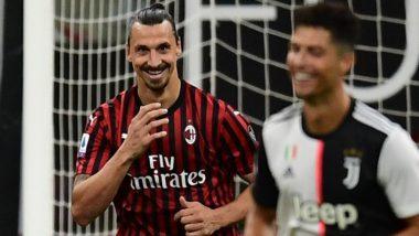 Zlatan Ibrahimovic Mocks Cristiano Ronaldo After Converting Penalty into a Goal During AC Milan vs Juventus, Serie A 2019-20 (Watch Video)