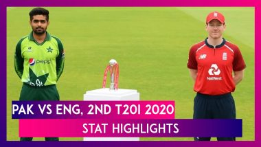 PAK vs ENG Stat Highlights, 2nd T20I 2020: Eoin Morgan Guides England To Five Wicket Victory