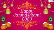 Happy Janmashtami 2020 Wishes and Shri Krishna HD Images: WhatsApp Stickers, Facebook Messages, Gokulashtami Photos, GIFs and Greetings to Celebrate Krishna Janmashtami