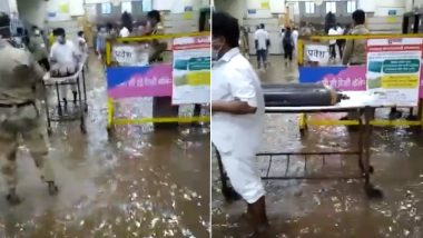 Mumbai Rains: Water Enters JJ Hospital in Mumbai (Watch Video)